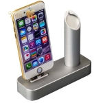 Док-станция для Apple Watch & iPhone COTEetCI Base1 Charging Cradle stand (CS2045-TS) Silver, цвет серебристый