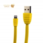 USB дата-кабель Remax Fast Charging LIGHTNING плоский (1.0 м) Желтый