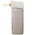 Чехол силиконовый для iPhone 6S Plus / 6 Plus (5.5) супертонкий в техпаке (прозрачно-чёрный)