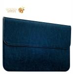 Защитный чехол-конверт для Apple MacBook Air 11 iCarer Genuine Leather Series, цвет голубой
