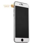 Пластиковый чехол-накладка для iPhone 6S Plus / 6 Plus iBacks Full Screen Tempered Glass, цвет серебристый