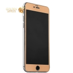 Пластиковый чехол-накладка для iPhone 6S Plus / 6 Plus iBacks Full Screen Tempered Glass, цвет золотистый