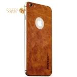 Кожаная наклейка для iPhone 6S Plus / 6 Plus Jisoncase (JS-I6L-14A20) Genuine leather, цвет коричневый