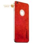 Кожаная наклейка для iPhone 6S Plus / 6 Plus Jisoncase (JS-I6L-14A30) Genuine leather, цвет красный