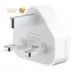 Сетевой адаптер питания Apple (MB706 LLA) для Английской розетки - Еgland (Выход: 5V/ 1A) A1399 White, цвет белый