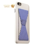 Накладка-подставка iBacks Bowknot Series PC Case для iPhone 6s Plus / 6 Plus (5.5) (60334) White / Stripes