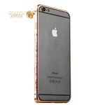 Бампер металлический iBacks Colorful Arc-shaped Flame Aluminium Bumper для iPhone 6s Plus / 6 Plus - gold edge (ip60063) Gold