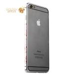 Бампер металлический iBacks Colorful Arc-shaped Flame Aluminium Bumper для iPhone 6s Plus / 6 Plus - gold edge (ip60065) Silver