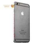 Бампер металлический iBacks Colorful Arc-shaped Flame Aluminium Bumper для iPhone 6s Plus / 6 Plus - gold edge (ip60064) Gray
