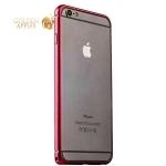 Бампер металлический iBacks Colorful Venezia Aluminum Bumper для iPhone 6s Plus / 6 Plus (5.5) - gold edge (ip60092) Red