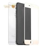 Стекло защитное для iPhone 6S / 6 Premium Tempered Glass  2 в 1 (0.26 mm) скос кромки 2.5D зеркальное, цвет розовое золото