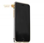 Алюминиевый бампер для iPhone 6S Plus / 6 Plus Fashion Case, цвет серебристый с золотистый полоской