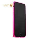 Алюминиевый бампер для iPhone 6S / 6 Fashion Case, цвет розовый