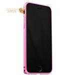 Алюминиевый бампер для iPhone 6S / 6 Fashion Case, цвет светло-розовый