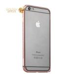 Алюминиевый бампер для iPhone 6S Plus / 6 Plus COTEetCI-CS1988-MRG, цвет розовое золото с розовыми кристаллами