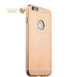 Накладка металлическая iBacks Ares Armour Love Aluminum Case with Crystal Diamond для iPhone 6s Plus (5.5) - (ip60290) Gold