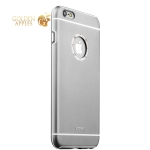 Алюминиевый чехол-накладка для iPhone 6S Plus / 6 Plus iBacks Ares Armour Love Aluminum Case with Crystal Diamond Gray, цвет серый