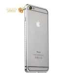 Бампер металлический iBacks Aircraft Grade Aluminum Bumper with Diamond для iPhone 6s Plus (5.5) (ip60225) Silver