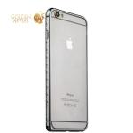 Бампер металлический iBacks Aircraft Grade Aluminum Bumper with Diamond для iPhone 6s Plus (5.5) (ip60226) Space Gray