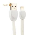 Lightning кабель USB Remax SHELL (RC-040i) плоский (1.0 м), цвет белый