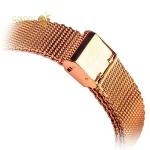 Ремешок-сетчатый браслет Миланский для Apple Watch (44 mm) COTEetCI W2 (CS2063-RGD), цвет розовое-золото