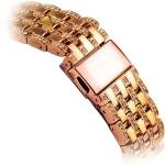Ремешок со стразами из нержавеющей стали для Apple Watch (38 mm) COTEetCI W4 Magnificent Band (CS2087-MRG), цвет розовое-золото