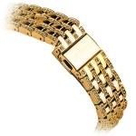 Ремешок со стразами из нержавеющей стали для Apple Watch (38 mm) COTEetCI W4 Magnificent Band (CS2087-GD), цвет золотистый
