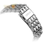 Ремешок со стразами из нержавеющей стали для Apple Watch (38 mm) COTEetCI W4 Magnificent Band (CS2087-SS), цвет серебристый