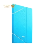 Кожаный чехол книжка для iPad Air 2 iBacks iFling VV Structure Leather Case - Business Series Lake Blue, цвет лазурный
