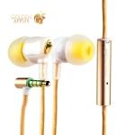 Вакуумные наушники вкладыши с микрофоном COTEetCI Earphone EH-02-CERAMICS CS3011-GD, цвет золотистый