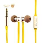 Вакуумные наушники вкладыши с микрофоном COTEetCI Earphone EH03-VOGUE METAL CS3012-GD, цвет золотистый