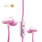 Вакуумные наушники вкладыши COTEetCI Earphone EH04-MINI POTTERY CS3013-PK, цвет розовый