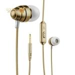 Вакуумные наушники вкладыши с микрофоном Hoco M5 Colorful Conch Universal Earphone Aviation Aluminum, цвет золотистый