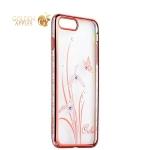 Чехол-накладка Kingxbar для iPhone 8 Plus пластик со стразами Swarovski 50H розовый (Orchid) Орхидея