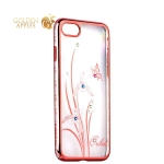 Чехол-накладка Kingxbar для iPhone 8 пластик со стразами Swarovski 50H розовый (Orchid) Орхидея