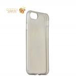 Чехол силиконовый для iPhone 7 (4.7) уплотненный в техпаке (прозрачно-чёрный)