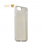 Силиконовый чехол-накладка для iPhone 8 ICSES, цвет прозрачно-черный