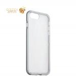Силиконовый чехол-накладка для iPhone 8 Plus ICSES, цвет прозрачный (серый борт)