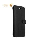 Кожаный чехол-книжка для iPhone 7 Valenta Booklet Smart Black, цвет черный