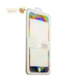 Защитное стекло для iPhone 7 Plus / 8 Plus 2D Black-Premium Tempered Glass (0.26 мм) скос кромки 2.5D, цвет черный
