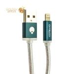 Lightning кабель USB COTEetCI M30 NYLON Breathe Light series с индикатором CS2127-GC (1.2 м), цвет графитовый