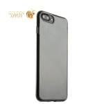 Силиконовый чехол-накладка для iPhone 7 Plus ICSES, цвет прозрачно-черный