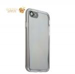 Силиконовый чехол-накладка для iPhone 8 ICSES, цвет прозрачный (серебристый борт)