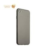Супертонкий пластиковый чехол-накладка для iPhone 8 ICSES (0.3 мм), цвет серый матовый
