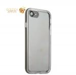 Чехол & бампер силиконовый прозрачный для iPhone SE (2020г.) в техпаке Space grey «Серый космос» борт