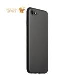 Супертонкий пластиковый чехол-накладка для iPhone 7 ICSES (0.3 мм), цвет черный матовый