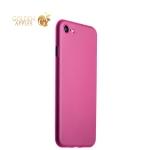 Супертонкий пластиковый чехол-накладка для iPhone 8 ICSES (0.3 мм), цвет розовый матовый