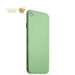 Супертонкий пластиковый чехол-накладка для iPhone 7 ICSES (0.3 мм), цвет салатовый матовый