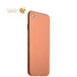 Супертонкий пластиковый чехол-накладка для iPhone 8 ICSES (0.3 мм), цвет оранжевый матовый