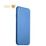 Супертонкий пластиковый чехол-накладка для iPhone 7 ICSES (0.3 мм), цвет голубой матовый